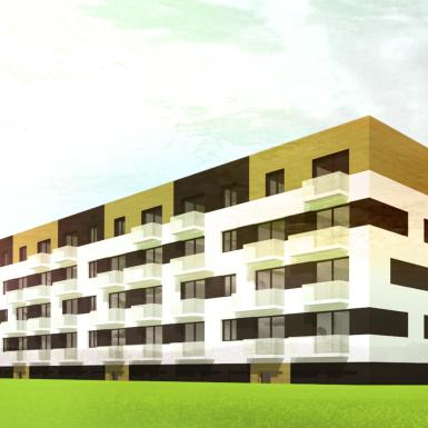 projekt budynku wielorodzinnego mieszkalnego